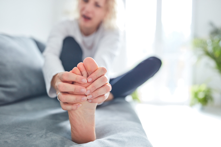 Problems with feet, joints, legs and ankles.