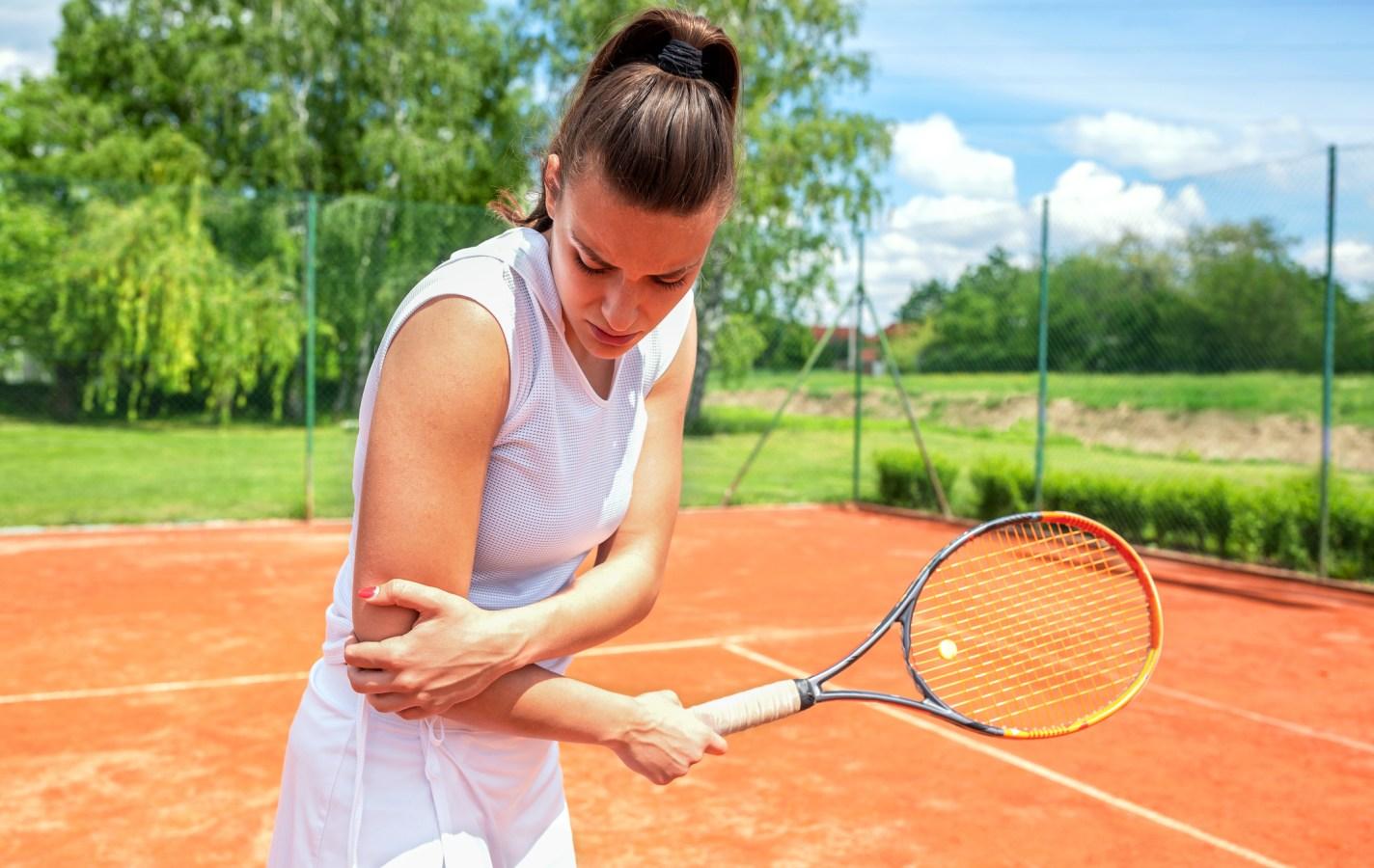 Arm injury during tennis practice